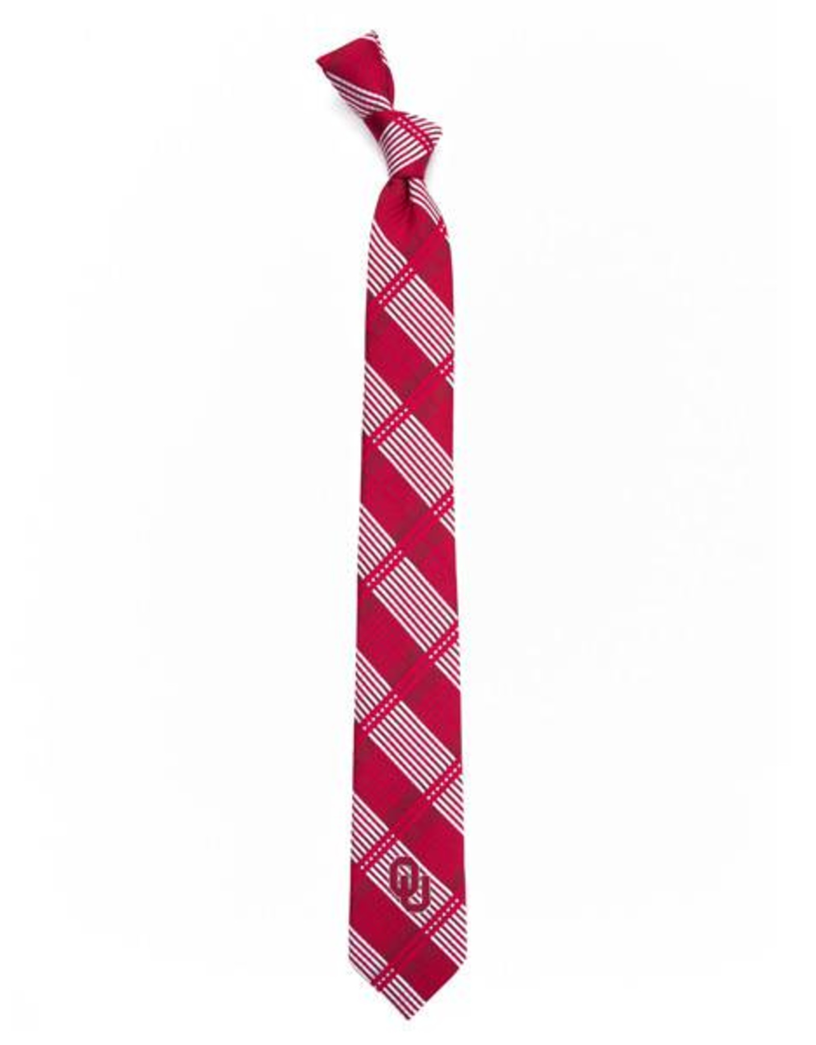 Eagles Wings Eagles Wings OU Skinny Plaid Woven Polyester Necktie