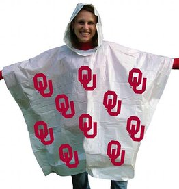 Storm Duds Lightweight White OU Rain Poncho