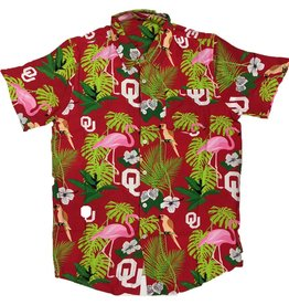 Forever Collectibles Hawaiian Oklahoma Floral Button Up Shirt