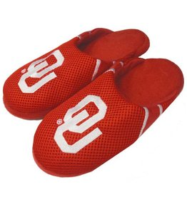 Forever Collectibles Forever Collectibles Men's Crimson Jersey Slippers