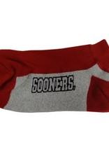 FBF Men's Sooners Crimson/Grey Midweight Performance Sock Lg. 10-13