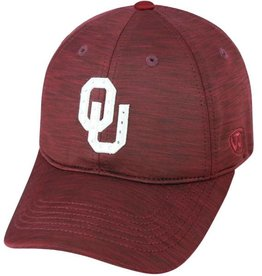 Top of the World TOW Women's Crimson Heather Bling OU Adjustable Hat