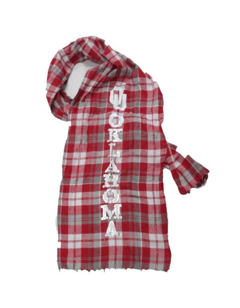 Concepts Sports Concepts Sport Oklahoma Plaid Scarf