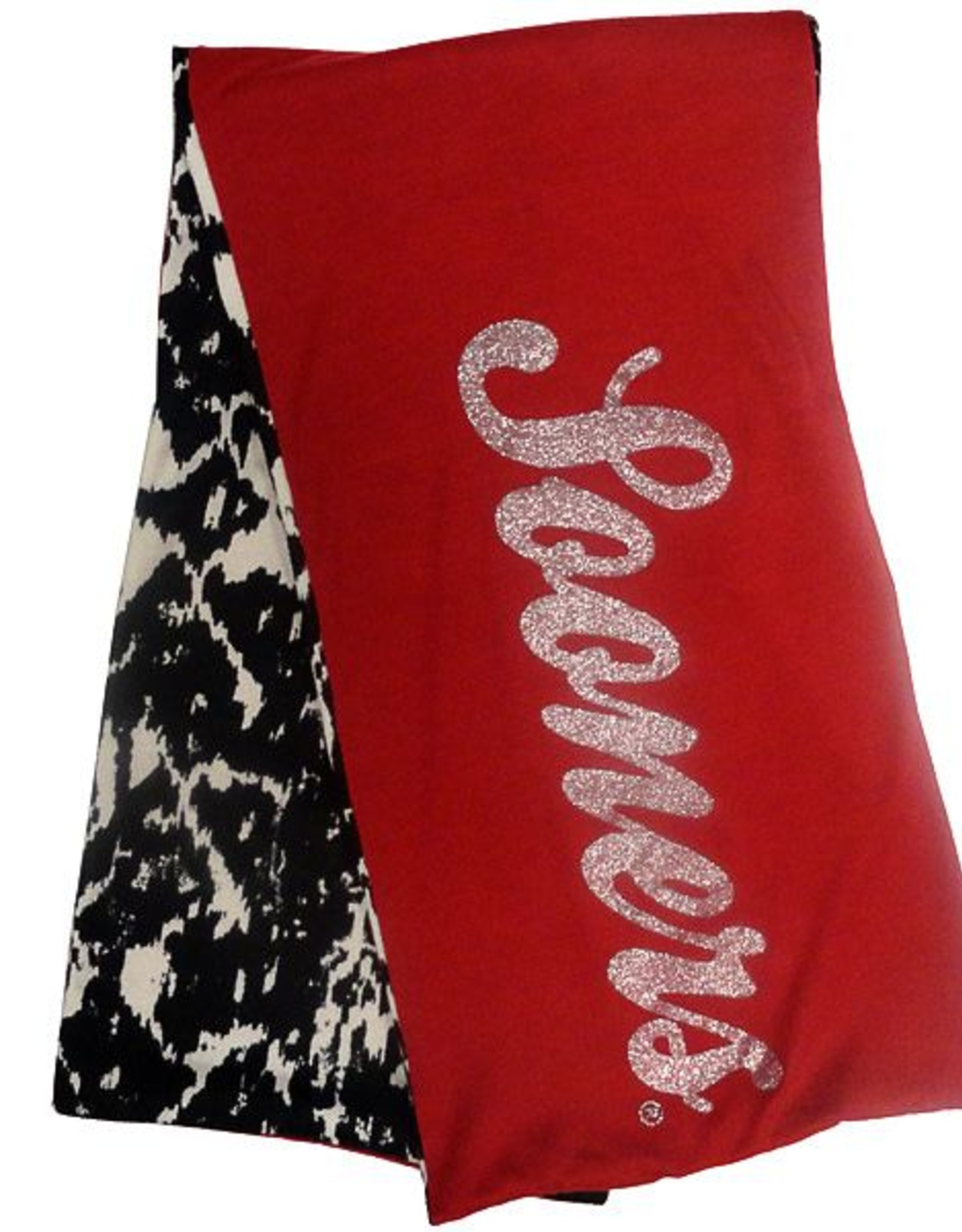 Gameday Couture Gameday Couture Crimson Sooners Glitter/Black & White Animal Print