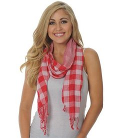 UGApparel UG Apparel Lightweight Plaid Scarf