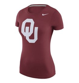 Nike Women's Nike Scoop-Neck Logo Tee Crimson