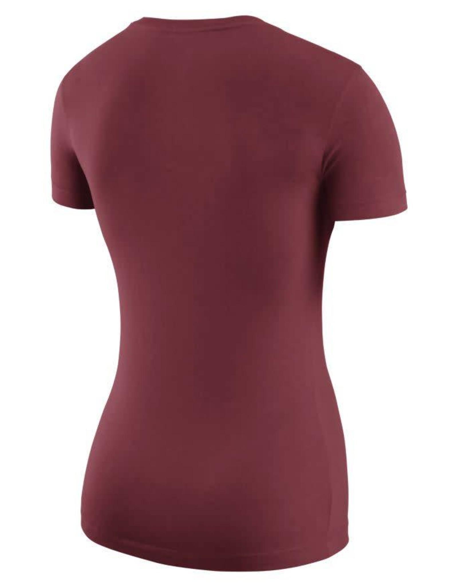 Nike Women's Nike Scoop-Neck Logo Tee Crimson