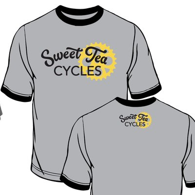 Sweet Tea Cycles Cotton Ringer T-Shirt