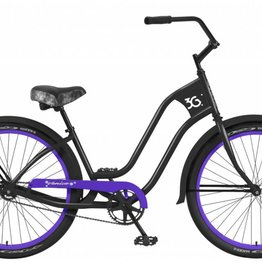 3G 3G bike newport 3 lady matte black w/ purple rims