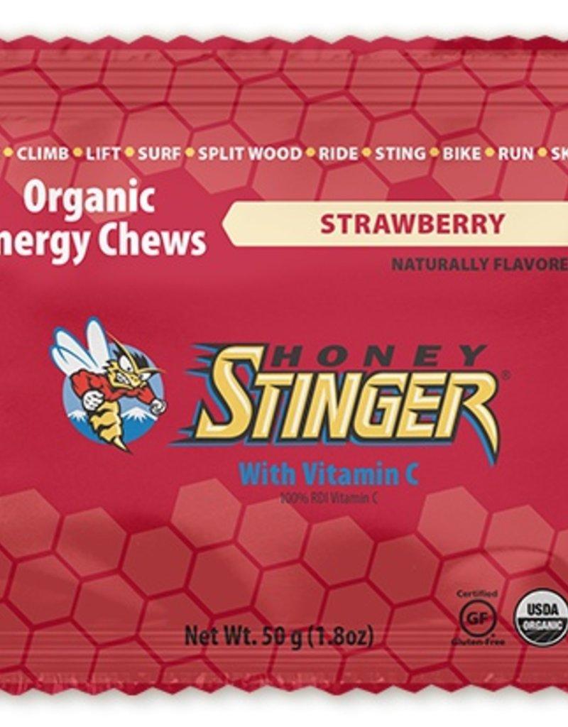 Single Honey Stinger Organic Energy Chews: Strawberry