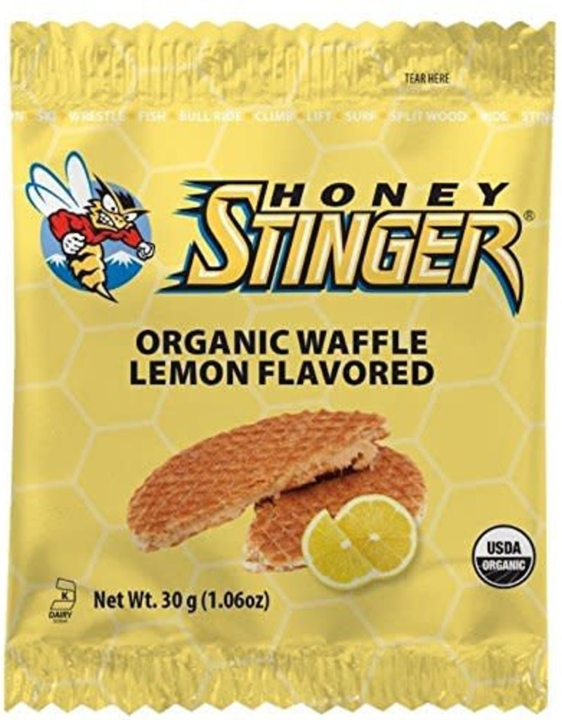 SINGLE Honey Stinger Organic Waffle: Lemon