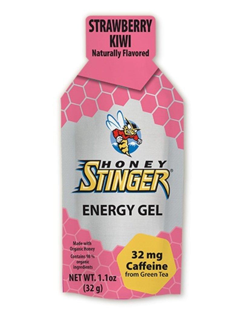 SINGLE Honey Stinger, Organic Gel Strawberry Kiwi 1.3oz w/Caffeine