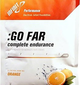 SINGLE Infinit Nutrition Go Far Energy Drink Mix: Orange Single Serving Packet