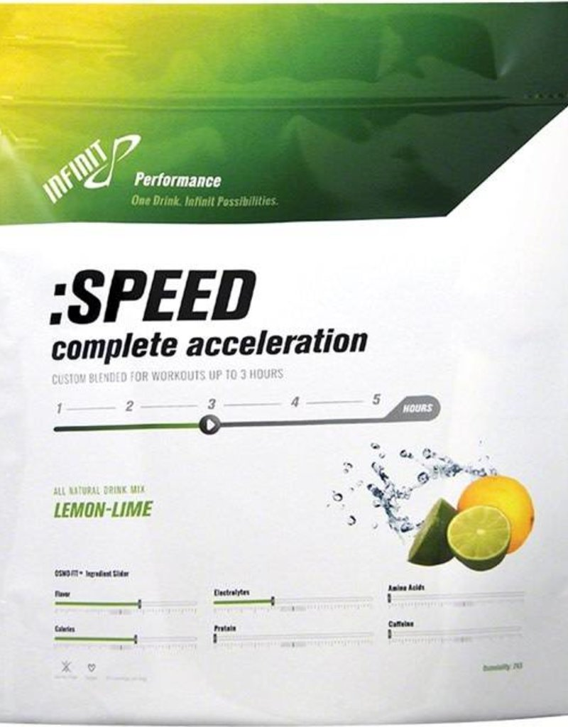 SINGLE Infinit Nutrition Speed Energy Drink Mix: Lemon Lime Single Serving Packet