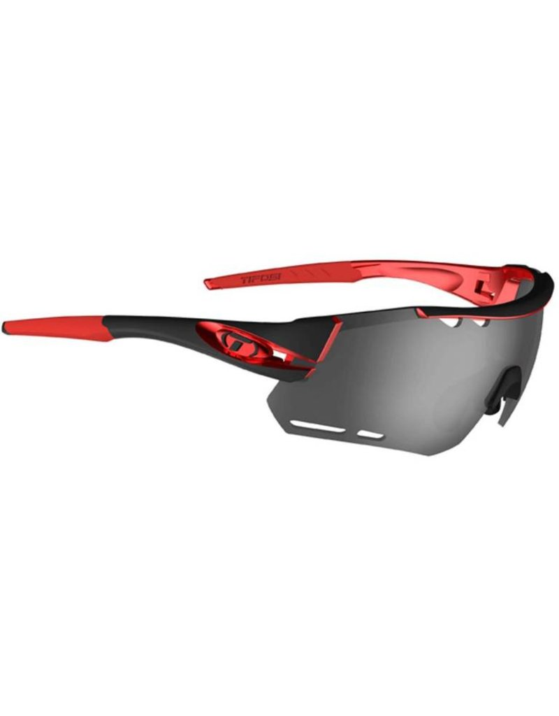 Alliant, Black/Red Interchangeable Sunglasses - Smoke/AC Red/Clear
