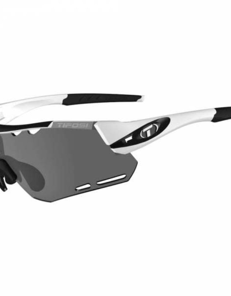 Alliant, White/Black Interchangeable Sunglasses - Smoke/AC Red/Clear