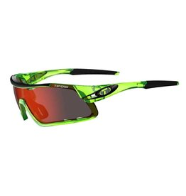 Davos, Crystal Neon Green Interchangeable Sunglasses - Clarion Red/AC Red/Clear