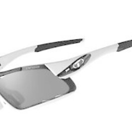 Davos, White/Black Interchangeable Sunglasses - Smoke/AC Red/Clear