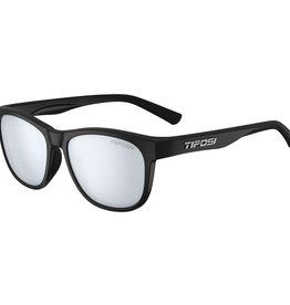 Swank, Satin Black Single Lens Sunglasses - Smoke Bright Blue
