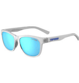 Swank, Satin Clear Polarized Sunglasses - Clarion Blue Polarized