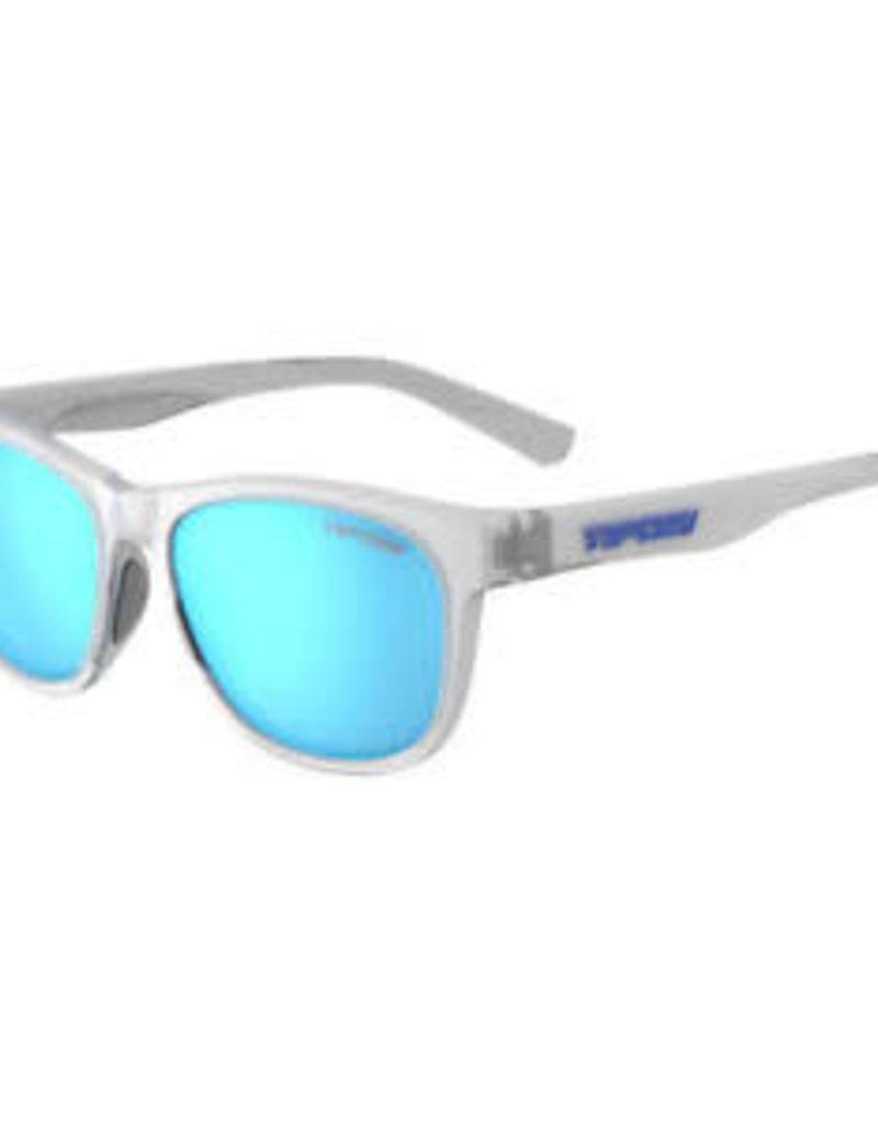Swank, Satin Clear Polarized Sunglasses - Clarion Blue Polarized