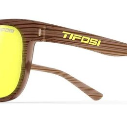 Swank, Woodgrain Single Lens Sunglasses - Smoke Yellow