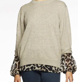 BROCHU WALKER The Layered Print Sweatshirt
