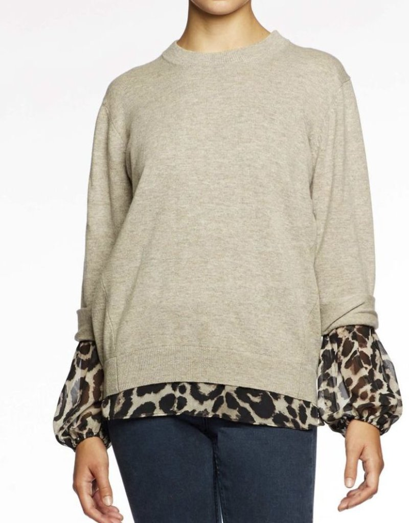 BROCHU WALKER The Layered Print Sweatshirt