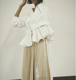 CLU The Color Block Pleated Skirt