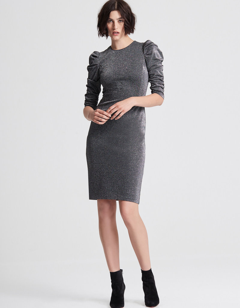 HALSTON The Draped Knit Dress
