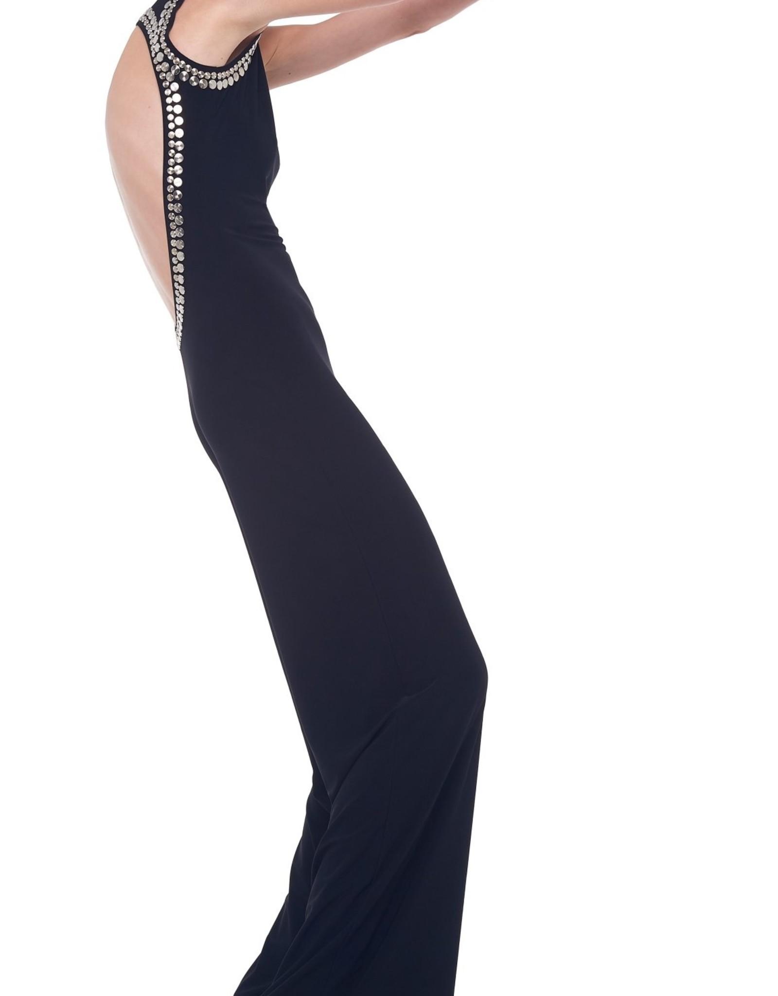 NORMA KAMALI The Stud Open Back Jumpsuit