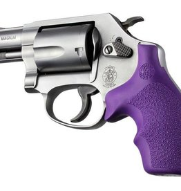 Hogue Inc. Hogue Bantam Style Grip for S&W J Frames- Rubber Round Butt Purple