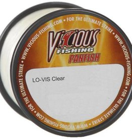 Vicious Vicious Fishing 4# Panfish Line, Lo-Vis Clear, 1/4 lb. 2960 yards