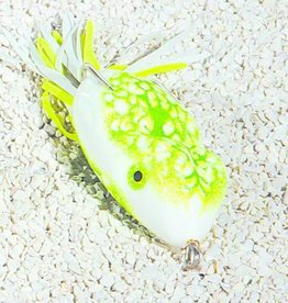 "SOUTHERN LURE CO. SCUM FROG TOPWATER FROG, 2.5"", NATURAL GREEN/YELLOW"
