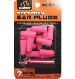 Walker's Walker's Soft Foam Ear Plugs w/case-Pink