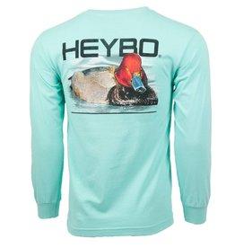 Heybo Outdoors MEN'S HEYBO LONG SLEEVE SHIRT XLARGE MINT HEY2064 REDHEAD