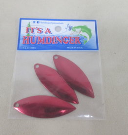 T&J Lures Humdinger Replacement Blades 3 Pack Willow Red