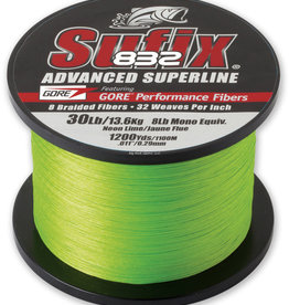 SUFFIX Sufix 832 Advanced Superline Neon Lime 50lb 1200yds - 660-380L