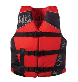 Full Throttle Full Throttle 112200-100-010-1 Water Sports Vest Dlx Nylon Red Teen