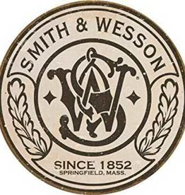 Signs 4 Fun Smith & Wesson Logo Round Tin Sign