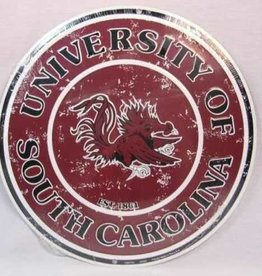 Signs 4 Fun UNIVERSITY OF SOUTH CAROLINA GAMECOCK TIN ROUND SIGN