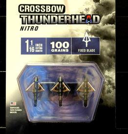 NEW ARCHERY PRODUCTS NEW 2018 NAP Thunderhead Nitro CROSSBOW Broadhead 100 gr. (3 Pack) Fixed Blade