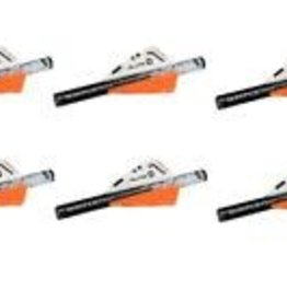 "NEW ARCHERY PRODUCTS NAP QuikFletch HellFire 3"" Vanes 6-pack White Orange ~ New"