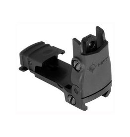 Mission First Tactical MFT Rear Backup Sight Polymer Flip Up Adjustable Wind
