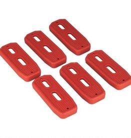 Mission First Tactical MFT Polymer Mag Floor Plate, Red, Per 6 PM556FP-R