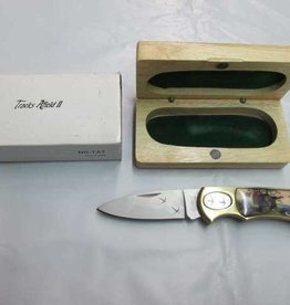 Boker Magnum Tracks Afield II TURKEY Folding Knife Stainless Steel with Wood Case #220