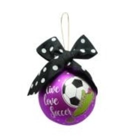 Simply Southern Simply SouthernLive,Love,Soccer Christmas Ornament