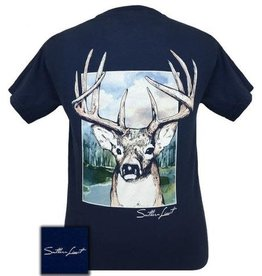Southern Limits SOUTHERN LIMIT BUCK  SILOUETTE, Blue, Short Sleeve,  XL