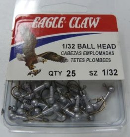Eagle Claw Eagle Claw Jig Head Unpainted 1/32 25pk