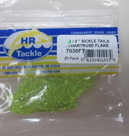 HR Tackle HR Tackle 3/4'' Sickle Tails Chartruse Flake